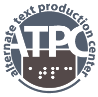 A large silver circle displaying the ATPC logo.